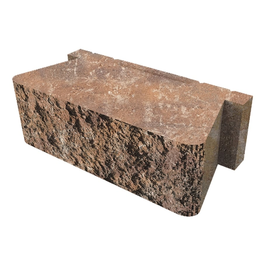 Napoli/Grey Straight Concrete Retaining Wall Block (Common: 16-in x 5-in; Actual: 16-in x 5.3-in)