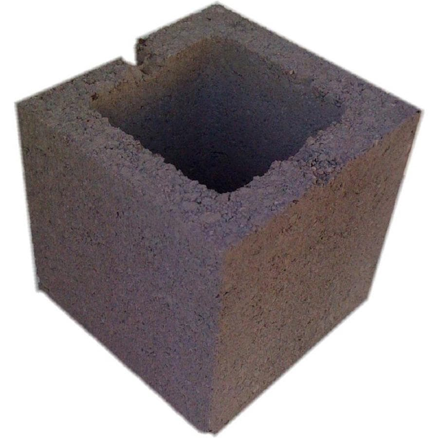 Normal Weight Half Concrete Block (Common: 8-in x 8-in x 8-in; Actual: 7.5-in x 7.5-in x 7.5-in)