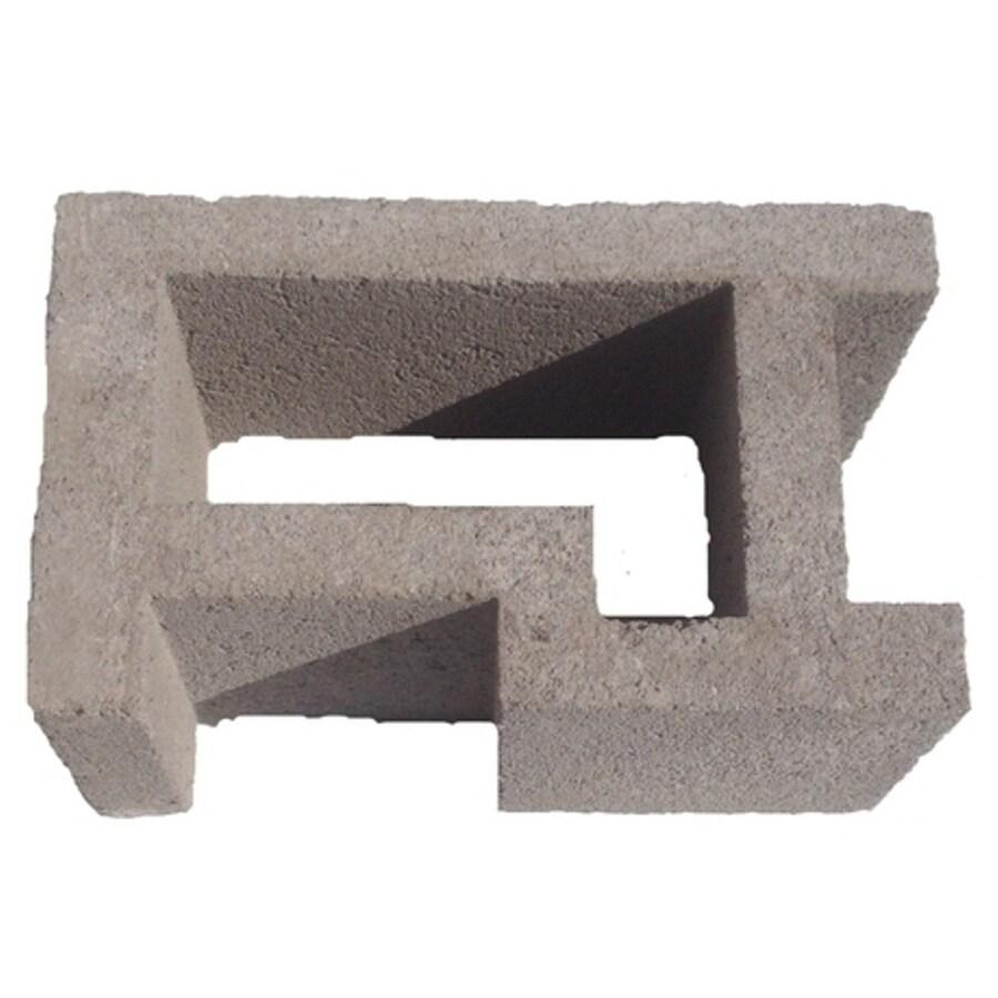 Oldcastle Concrete Corner Fence Block (Common: 8-in x 12-in x 16-in; Actual: 7.875-in x 11.5-in x 15.5-in)