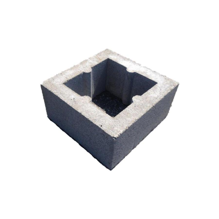 Concrete Block (Common: 16-in x 8-in x 16-in; Actual: 15.5-in x 7.5-in x 15.5-in)