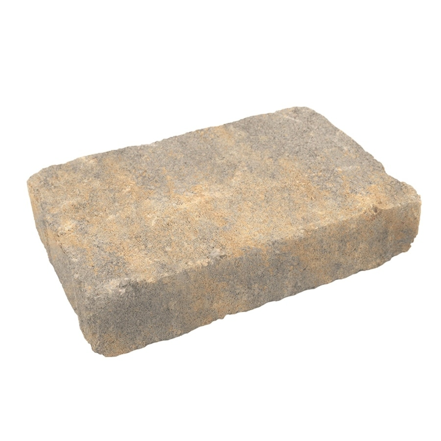 Fossil Beige Concrete Paver (Common: 7-in x 11-in; Actual: 7.1-in x 10.6-in)