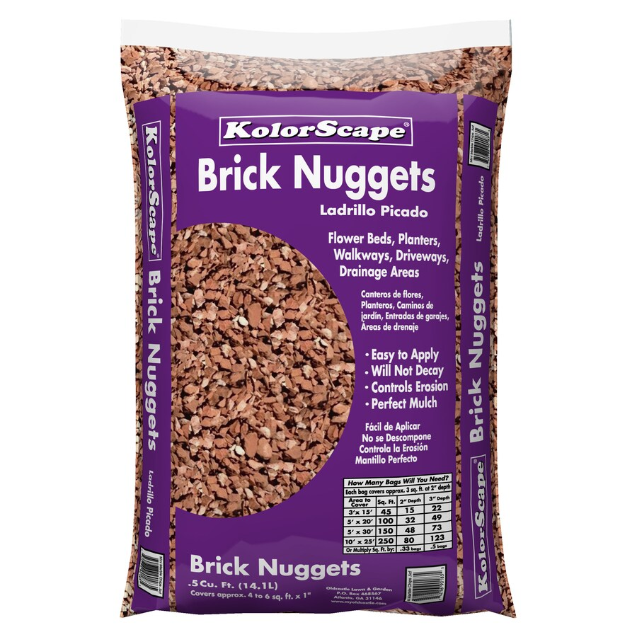 Oldcastle 0.5-cu ft Brick Nuggets