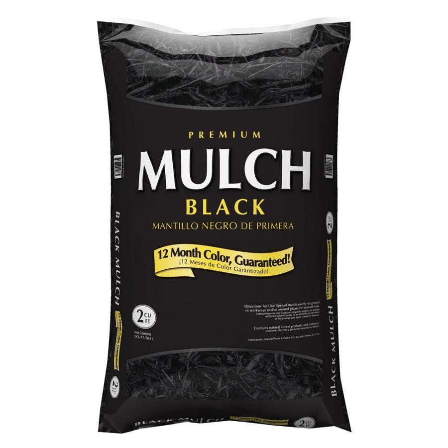 Premium 2-cu ft Black Hardwood Mulch