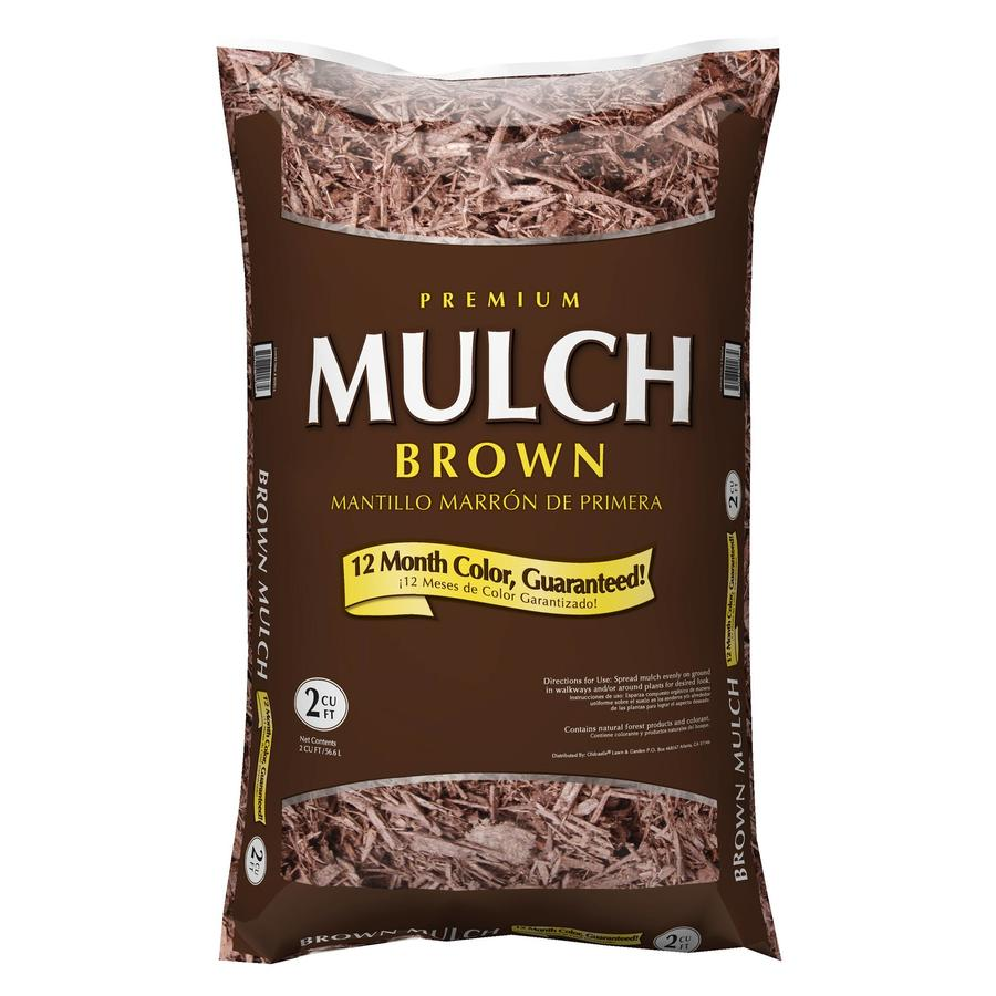 Shop Premium 2 Cu Ft Dark Brown Hardwood Mulch At Lowes Com