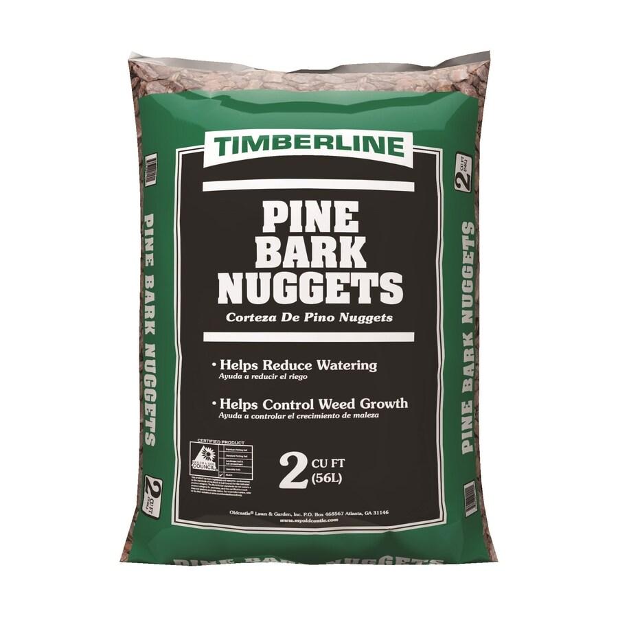 Shop Timberline 2 Cu Ft Dark Brown Nuggets Pine Bark Mulch