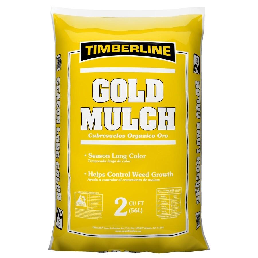 Oldcastle Timberline 2-cu ft Light Brown/Gold Hardwood Mulch