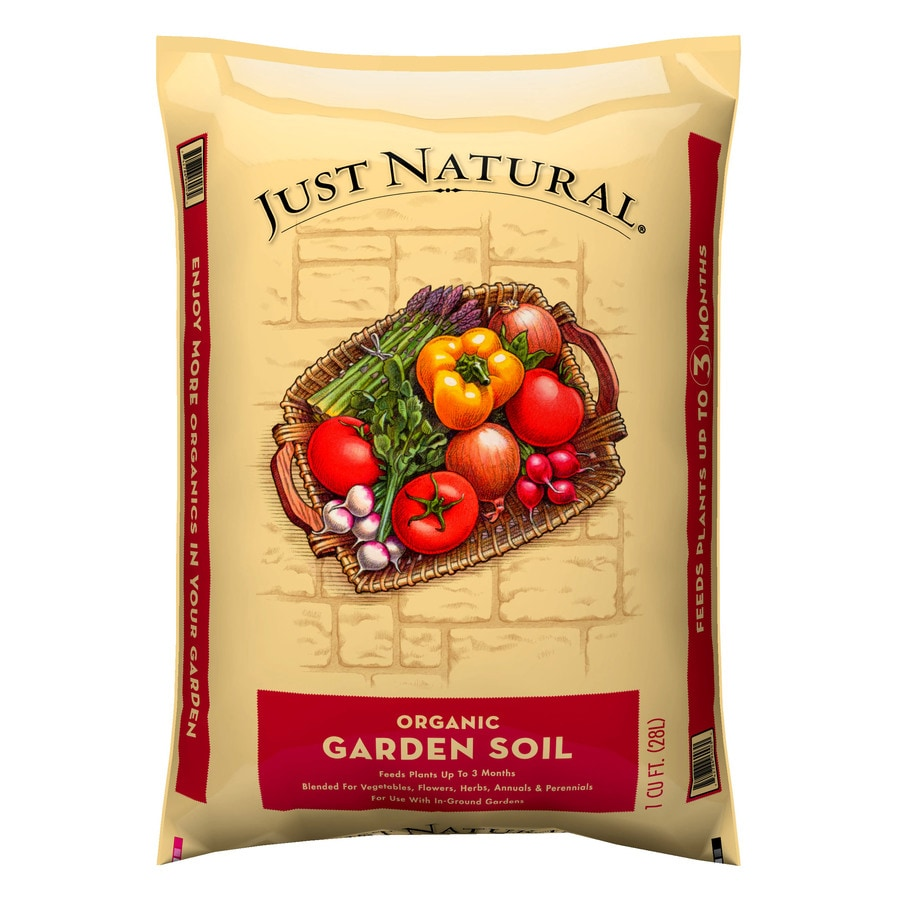 Just Natural Just Natural 1-cu ft Organic Flower and Vegetable Garden Soil