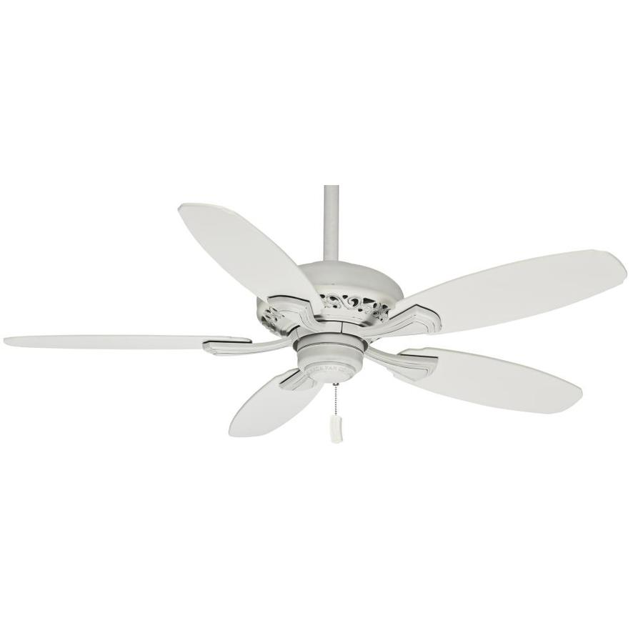 Casablanca Fordham 44-in Cottage White Downrod or Close Mount Indoor Residential Ceiling Fan