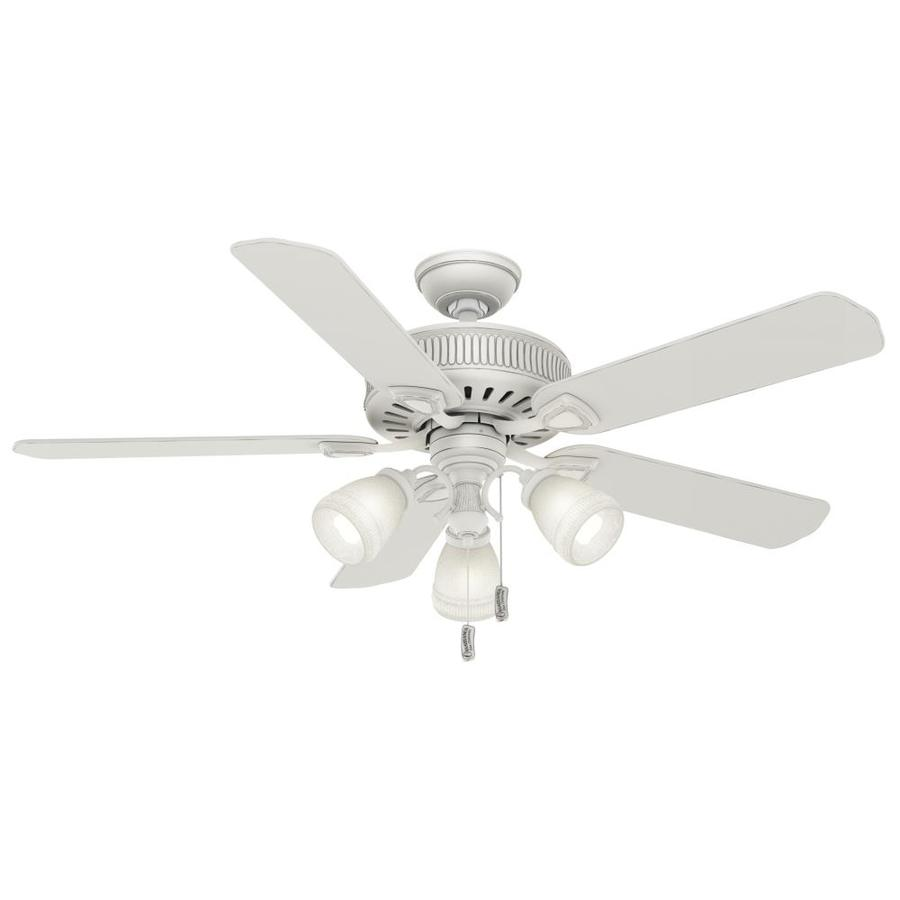 Casablanca Ainsworth Gallery 54-in Cottage White Downrod or Close Mount Indoor Residential Ceiling Fan with Light Kit