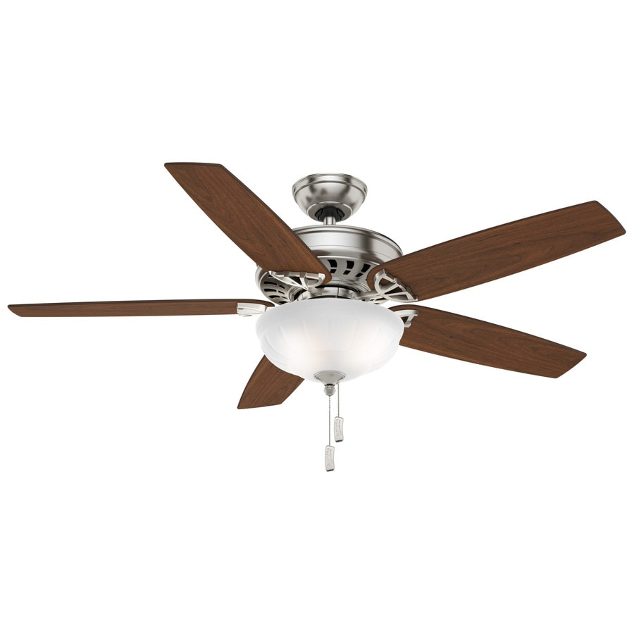 Casablanca Concentra Gallery 54-in Brushed Nickel Downrod or Close Mount Indoor Residential Ceiling Fan with Light Kit