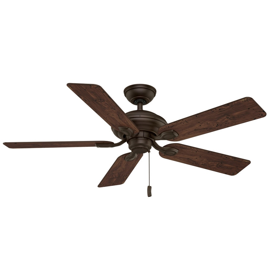 Casablanca Utopian 52-in Brushed Cocoa Downrod or Close Mount Indoor/Outdoor Residential Ceiling Fan ENERGY STAR