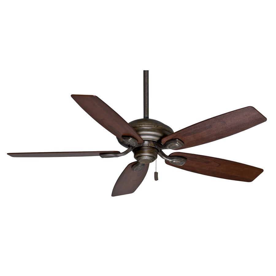 Casablanca Utopian 52-in Aged Bronze Downrod or Close Mount Indoor/Outdoor Residential Ceiling Fan ENERGY STAR