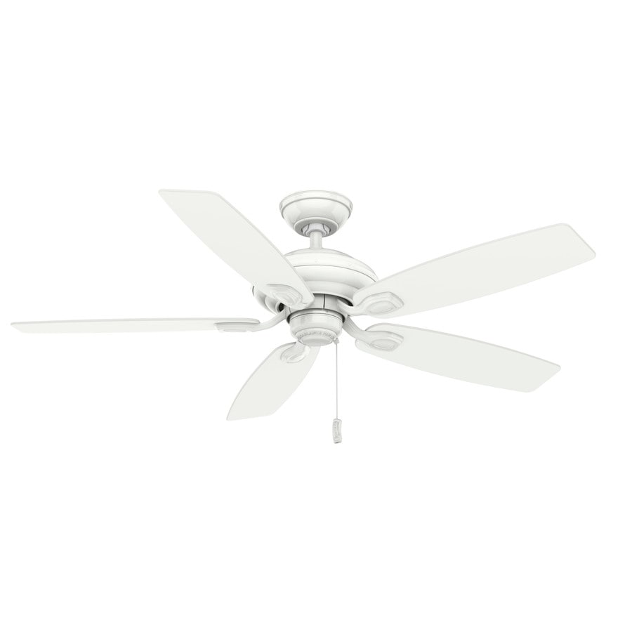 Casablanca Utopian 52-in Snow White Downrod or Close Mount Indoor/Outdoor Residential Ceiling Fan ENERGY STAR
