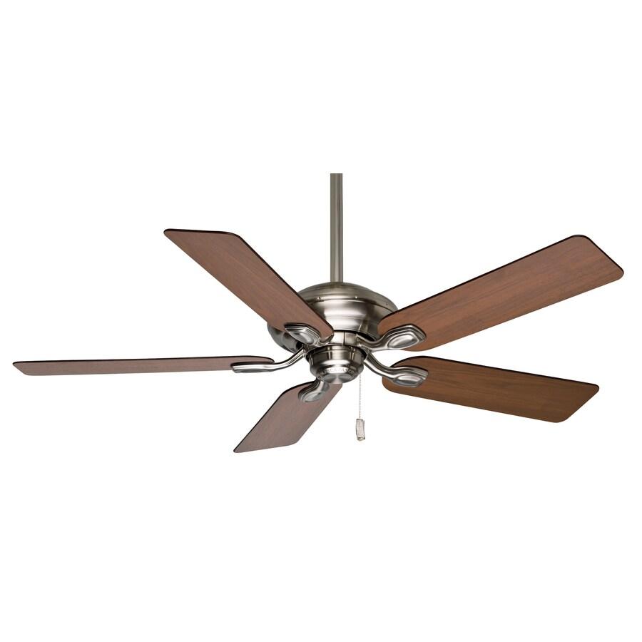 Casablanca Utopian 52-in Brushed Nickel Downrod or Close Mount Indoor Residential Ceiling Fan ENERGY STAR