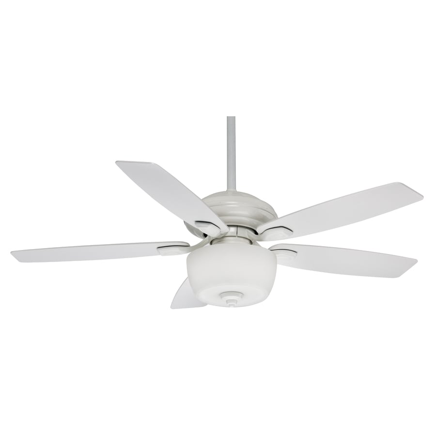 Casablanca Utopian Gallery 52-in Snow White Downrod or Close Mount Indoor/Outdoor Residential Ceiling Fan with Light Kit and Remote