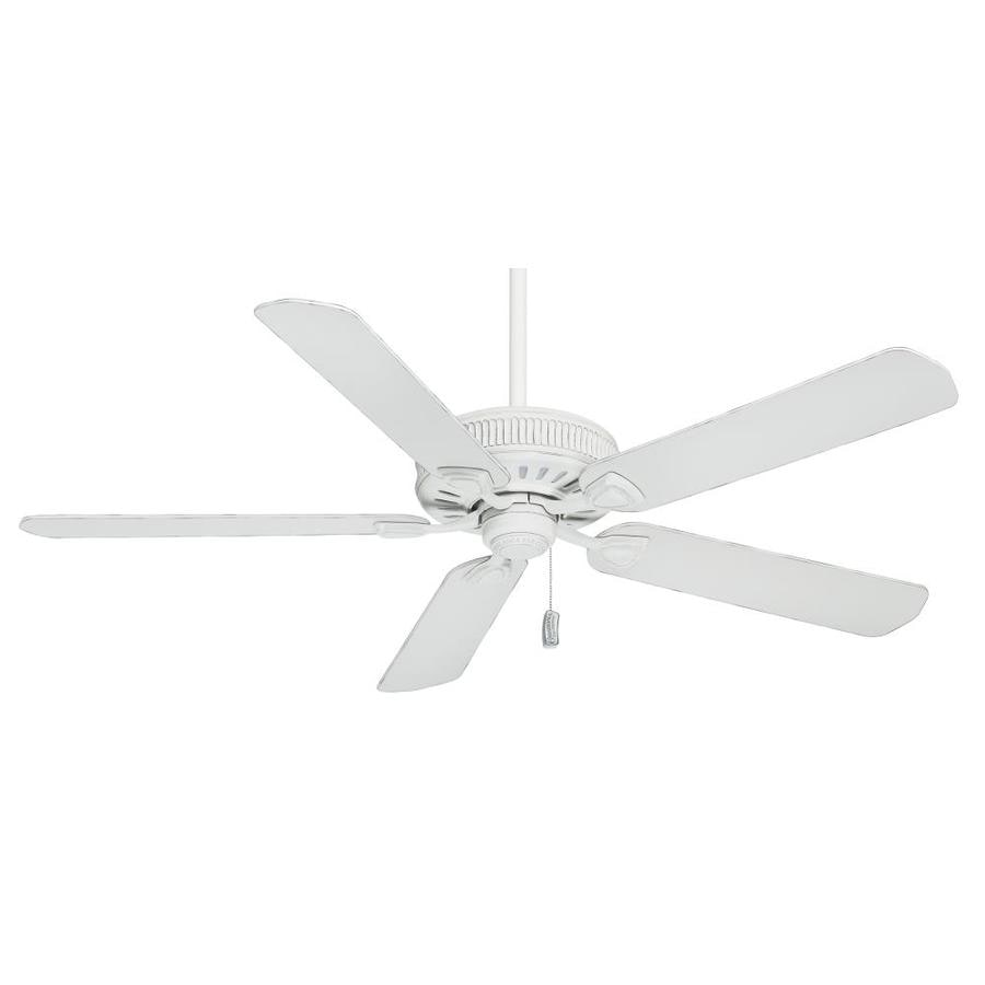Casablanca Ainsworth 60-in Cottage White Downrod or Close Mount Indoor Residential Ceiling Fan ENERGY STAR