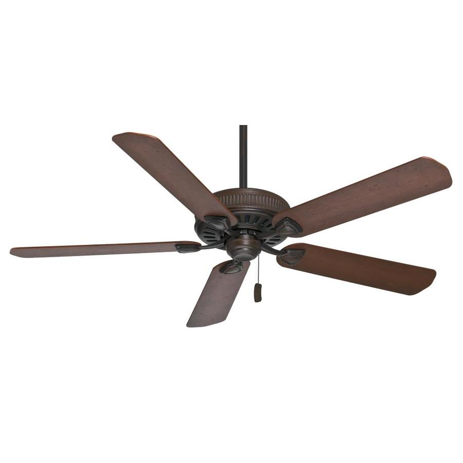 Casablanca Ainsworth 60-in Brushed Cocoa Downrod or Close Mount Indoor Residential Ceiling Fan ENERGY STAR