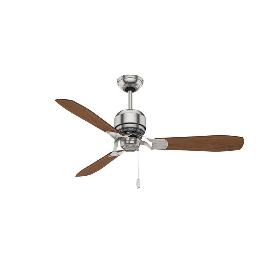 Casablanca Tribeca 52-in Brushed Nickel Downrod Mount Indoor Residential Ceiling Fan (3-Blade) ENERGY STAR