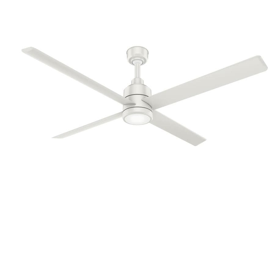 Casablanca Tribeca 60-in Snow White Downrod Mount Indoor Residential Ceiling Fan with Remote (3-Blade) ENERGY STAR
