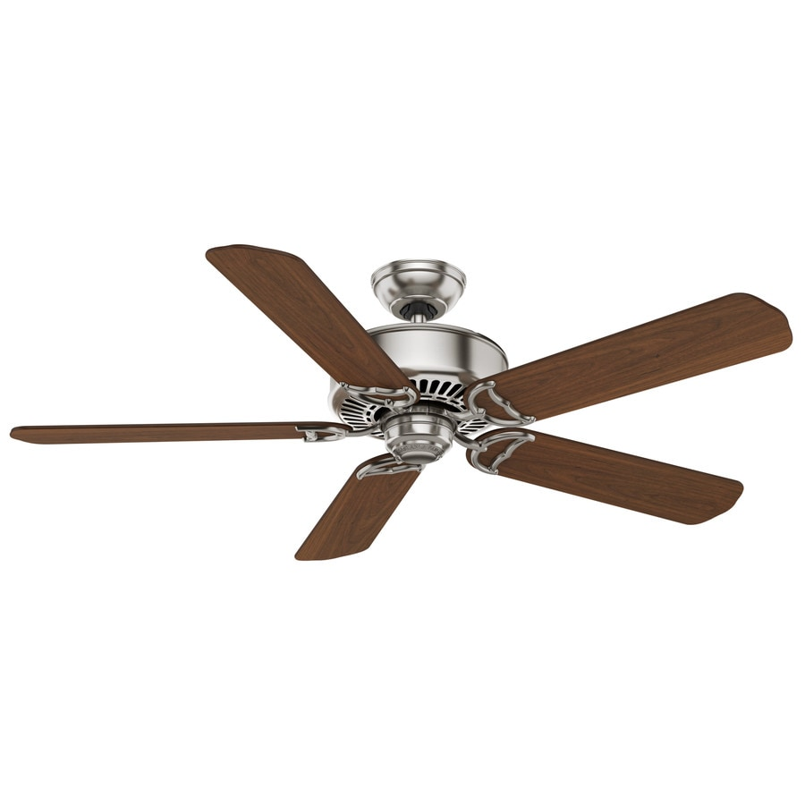 Casablanca Panama Dc 54-in Brushed Nickel Downrod or Close Mount Indoor Ceiling Fan with Remote ENERGY STAR