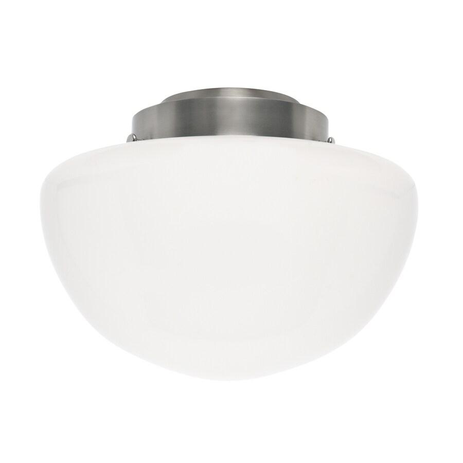 Casablanca 7-in H 10-in W White Opal Schoolhouse Ceiling Fan Light Shade
