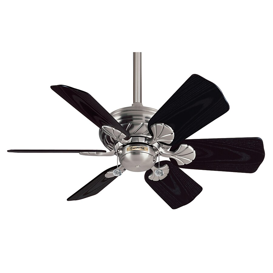 Casablanca Wailea 31-in Brushed Nickel Outdoor Downrod Mount Ceiling Fan