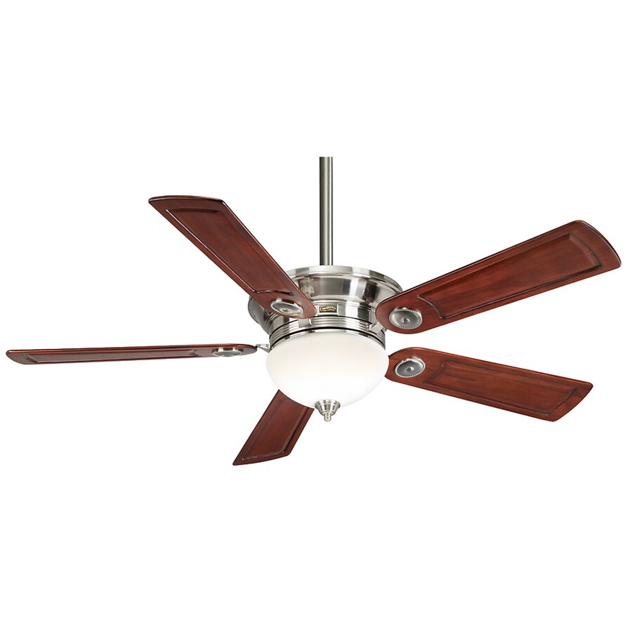 Casablanca 54-in Whitman Brushed Nickel Ceiling Fan with Light Kit