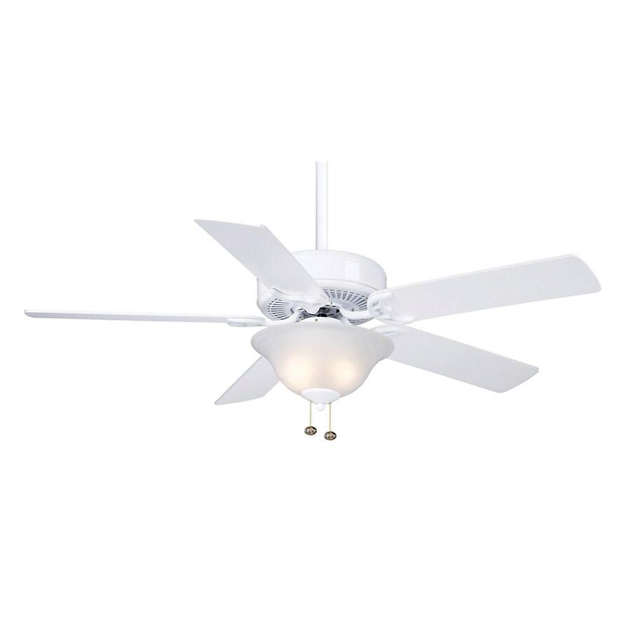 Casablanca 52-in Four Seasons III Gallery Snow White Ceiling Fan with Light Kit