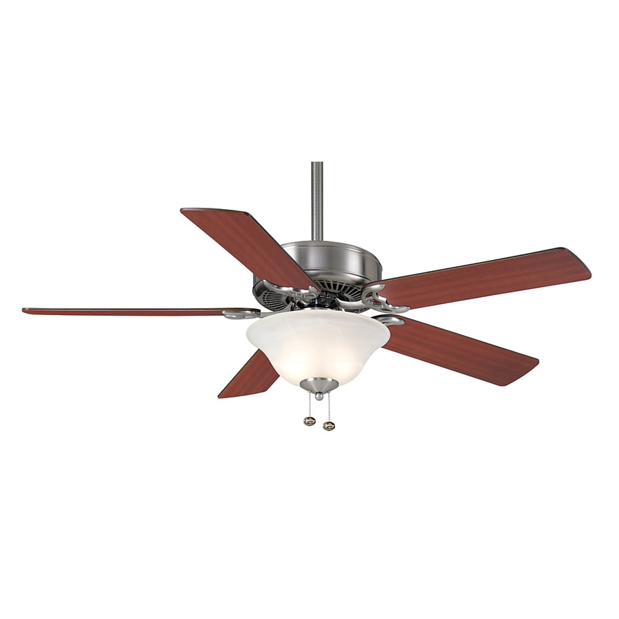 Casablanca 52-in Four Seasons III Gallery Brushed Nickel Ceiling Fan with Light Kit