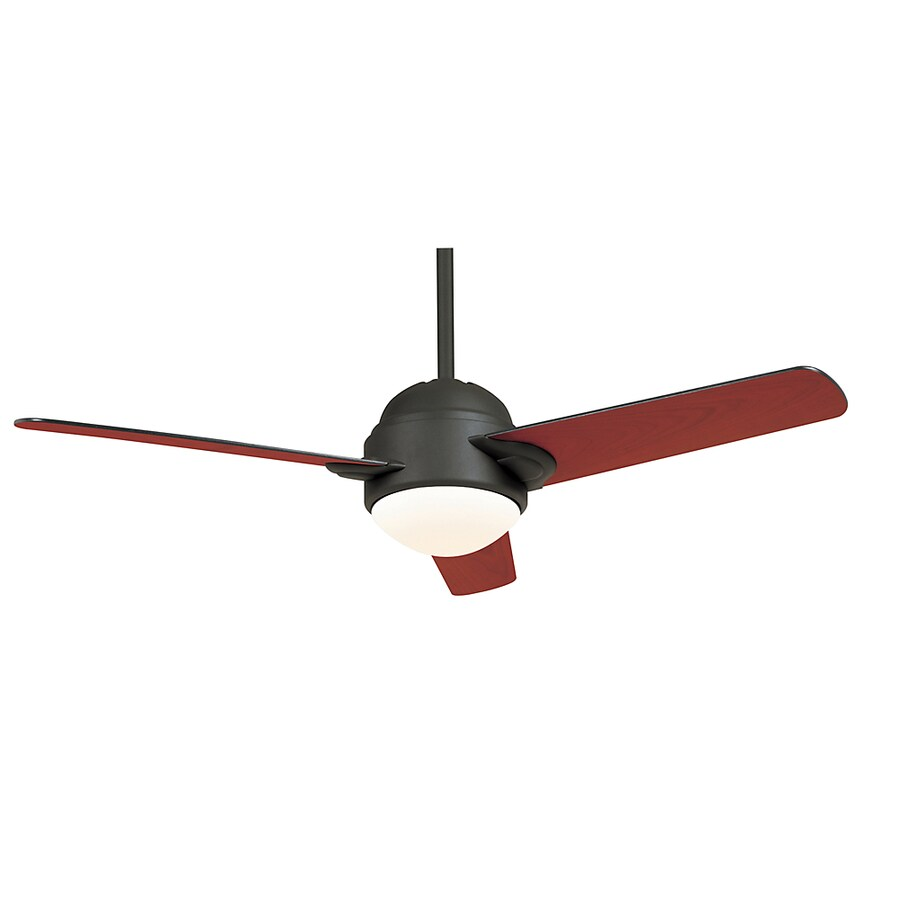 Casablanca Trident 54-in Graphite Downrod Mount Ceiling Fan with Light Kit and Remote