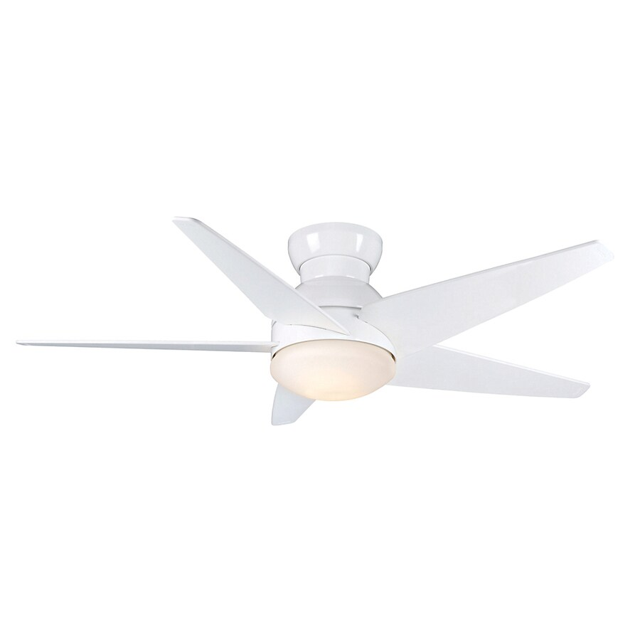 Casablanca 52-in Isotope Snow White Ceiling Fan with Light Kit
