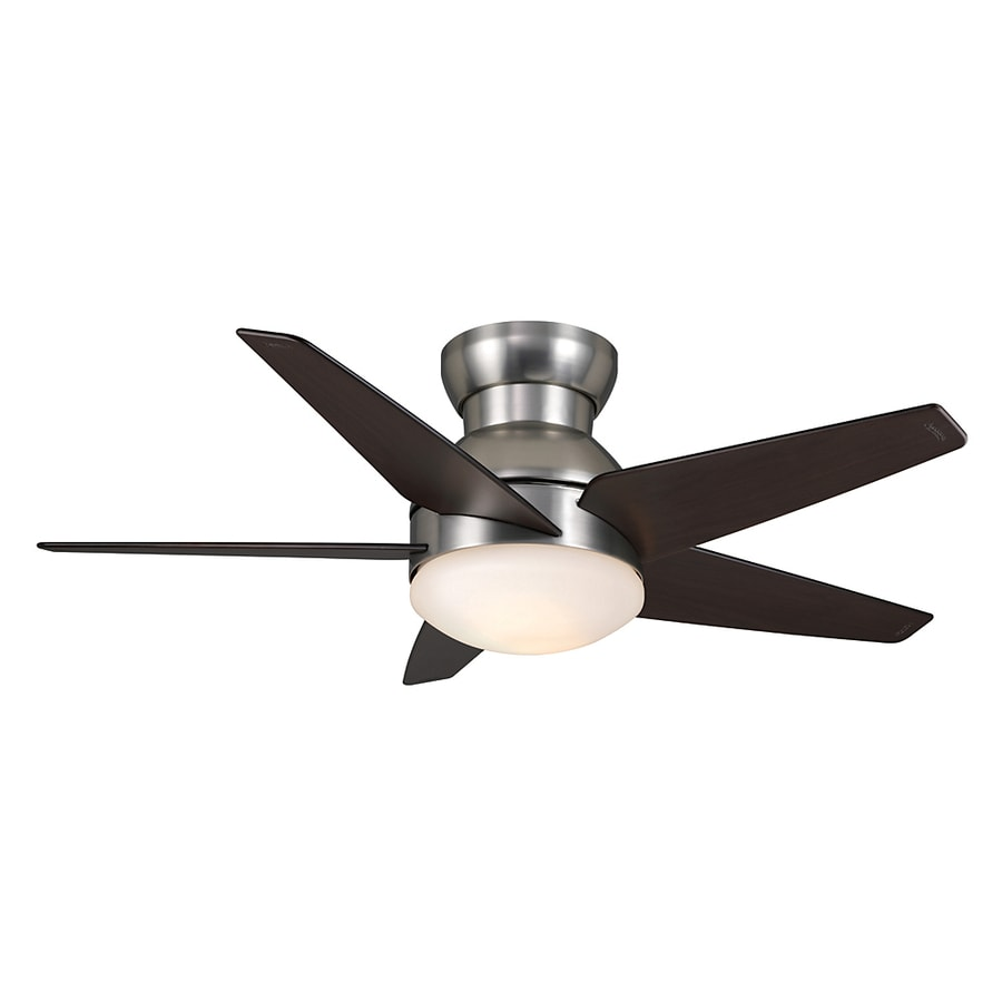 Casablanca 44-in Isotope Brushed Nickel Ceiling Fan with Light Kit