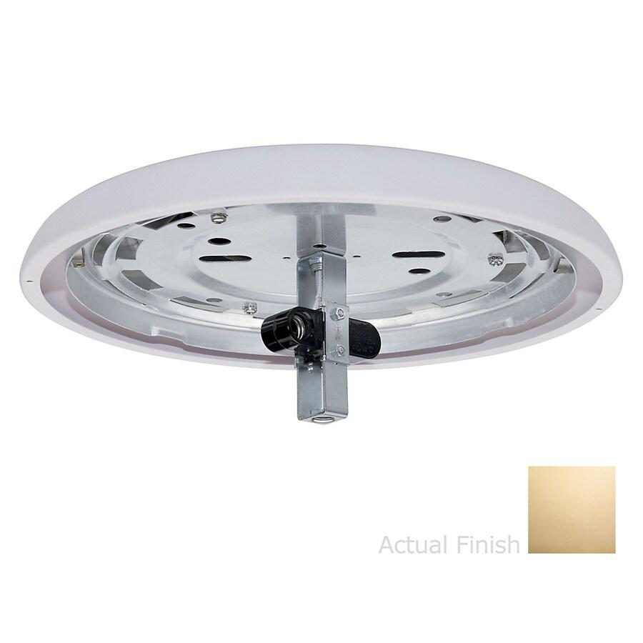 Casablanca 2-Light Bright Brass Incandescent Ceiling Fan Light Kit