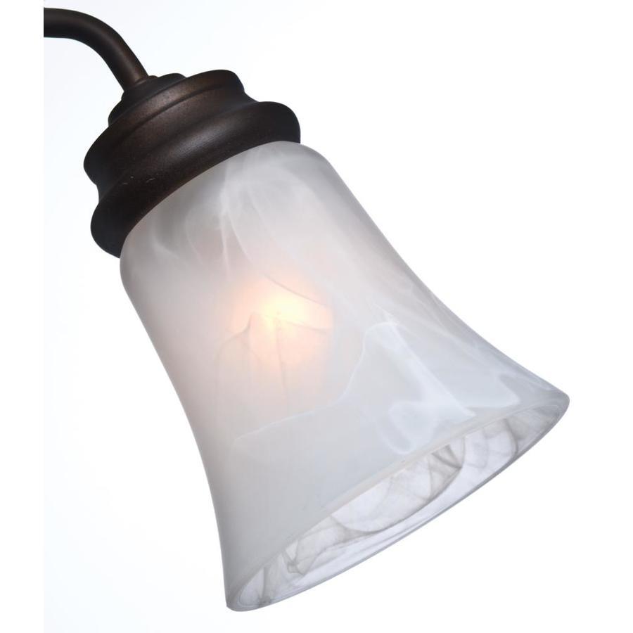 Casablanca 4.625-in H 4.625-in W Swirled Marble Marbleized Glass Bell Ceiling Fan Light Shade