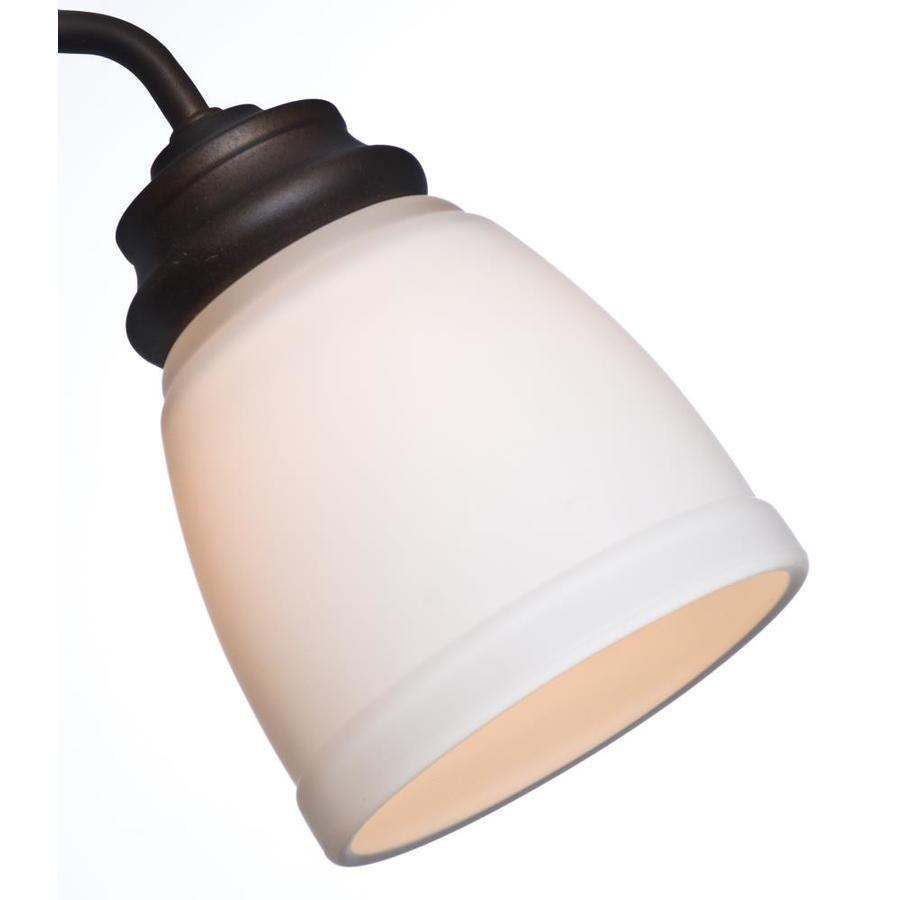 Casablanca 4.625-in H 4.625-in W Cased White Bell Ceiling Fan Light Shade