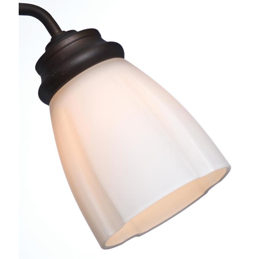 Casablanca 4.625-in H 4.625-in W Cased White Globe Ceiling Fan Light Shade