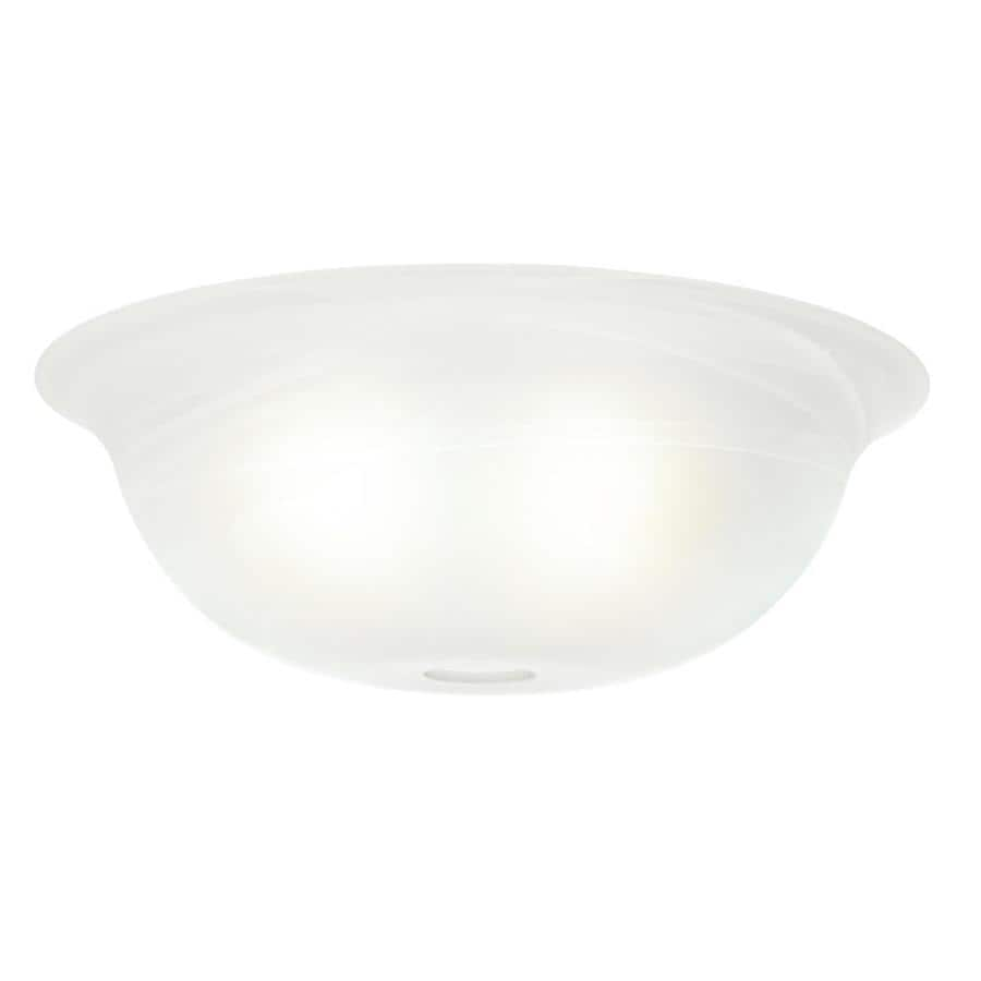 Casablanca 4.375-in H 12.75-in W Swirled Marble Marbleized Glass Bowl Ceiling Fan Light Shade