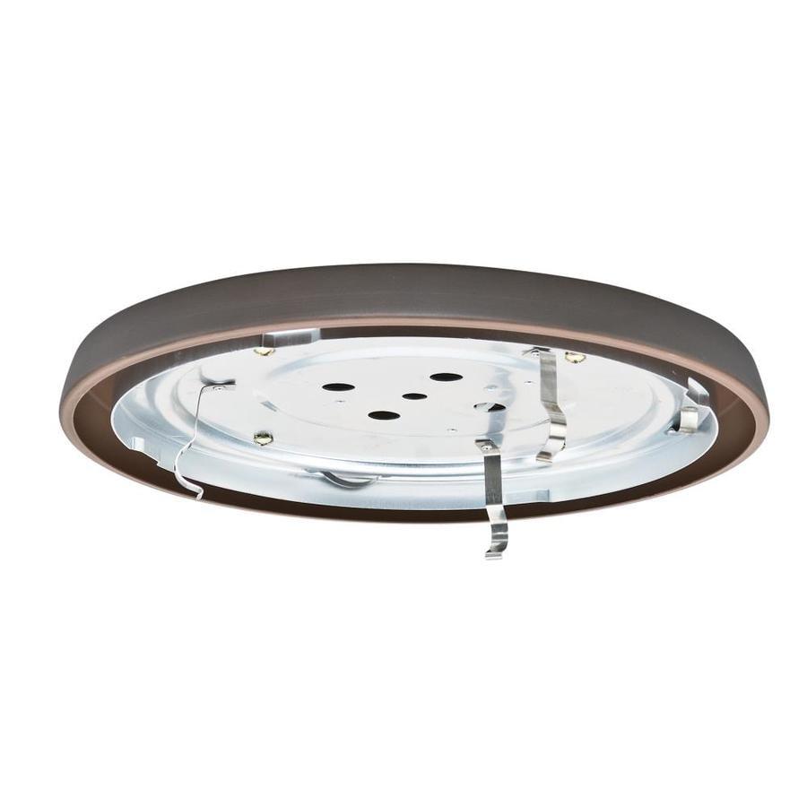 Casablanca Low Profile 1-Light Brushed Cocoa Fluorescent Ceiling Fan Light Kit
