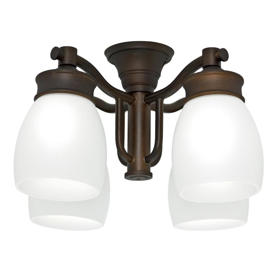 Casablanca 4-Light Maiden Bronze Fluorescent Ceiling Fan Light Kit with Frosted Glass
