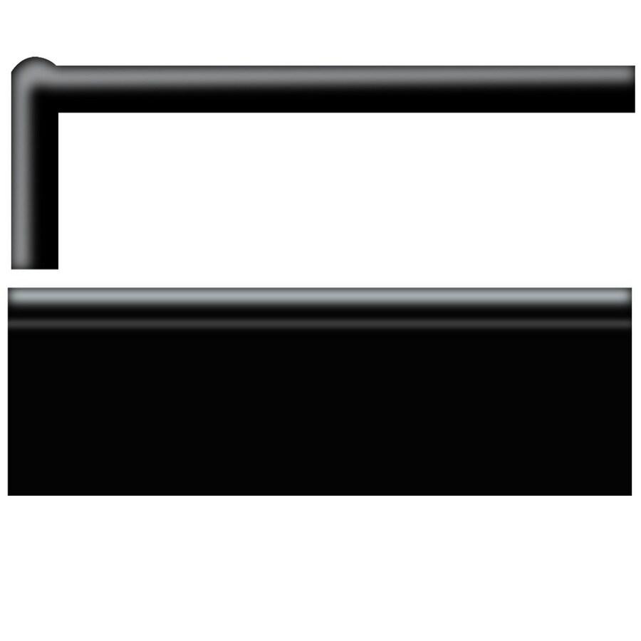 American Olean Bright Black Gloss Ceramic Mud Cap Tile (Common: 2-in x 6-in; Actual: 2-in x 6-in)