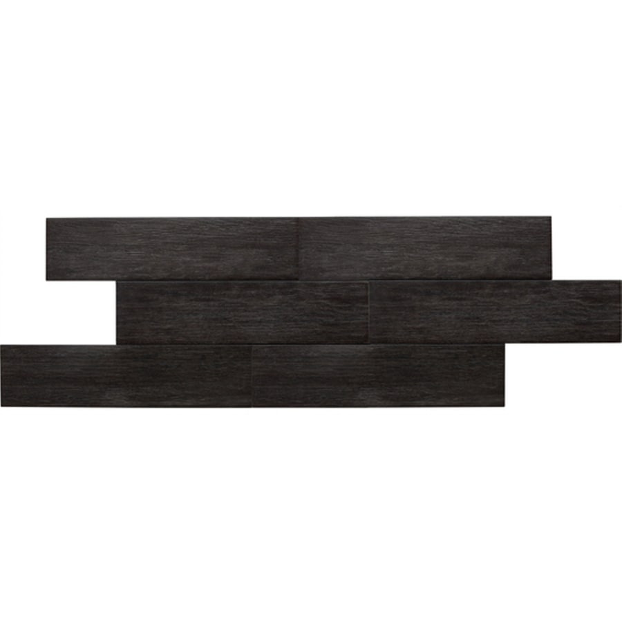 American Olean 12-Pack Terreno Black Forest Thru Body Porcelain Floor Tile (Common: 6-in x 24-in; Actual: 5.87-in x 23.62-in)