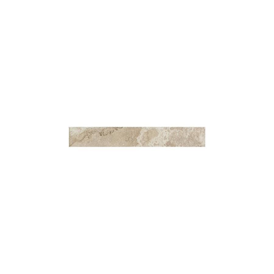 American Olean Pozzalo Coastal Beige Ceramic Quarter Round Tile (Common: 1-in x 6-in; Actual: 1-in x 6-in)