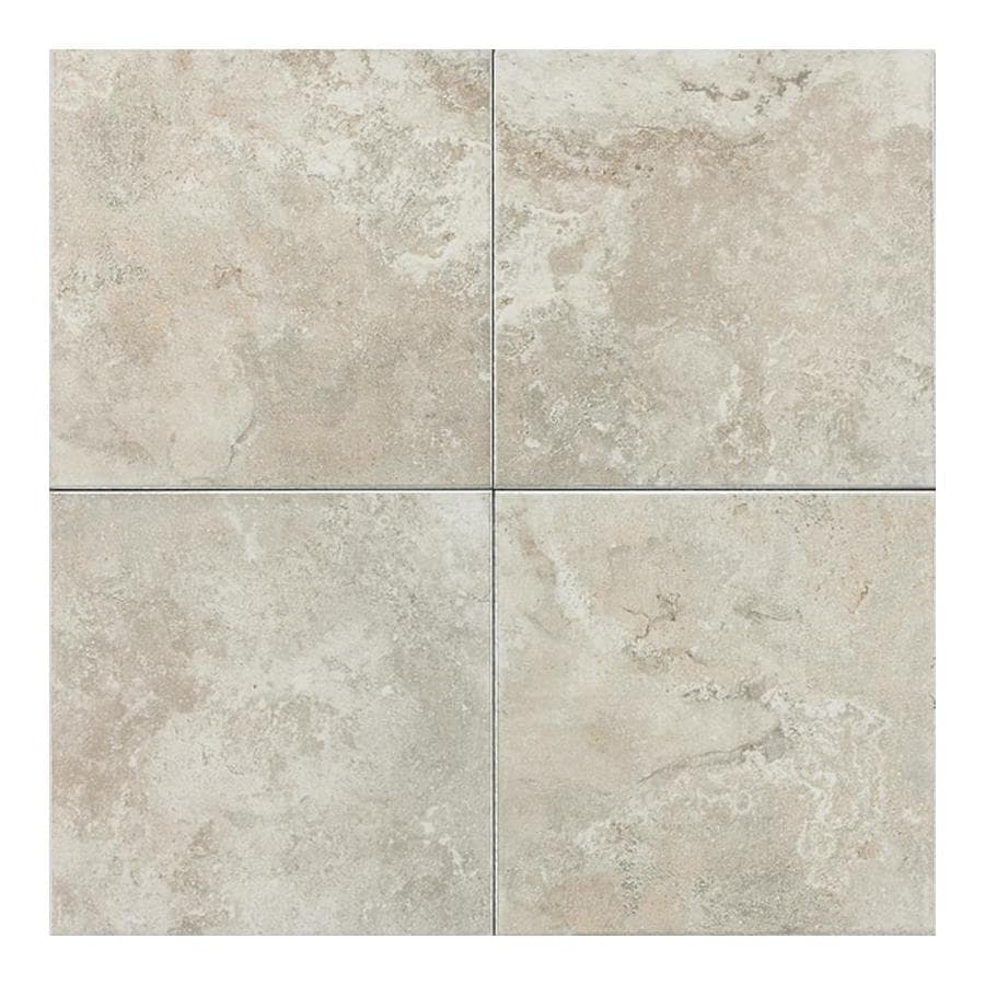Shop american olean pozzalo 50 pack sail white ceramic wall tile common 6 in x 6 in actual 6 Tile ceramic flooring