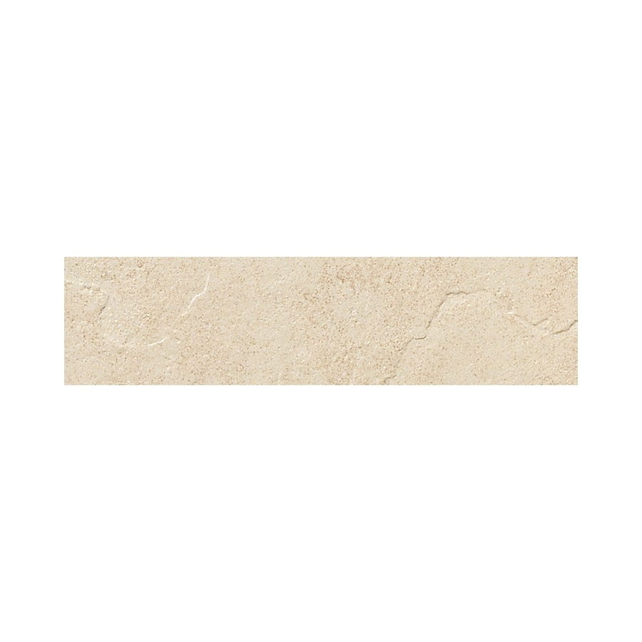 American Olean Shadow Bay Morning Mist Thru Body Porcelain Bullnose Tile (Common: 3-in x 12-in; Actual: 2.87-in x 11.81-in)