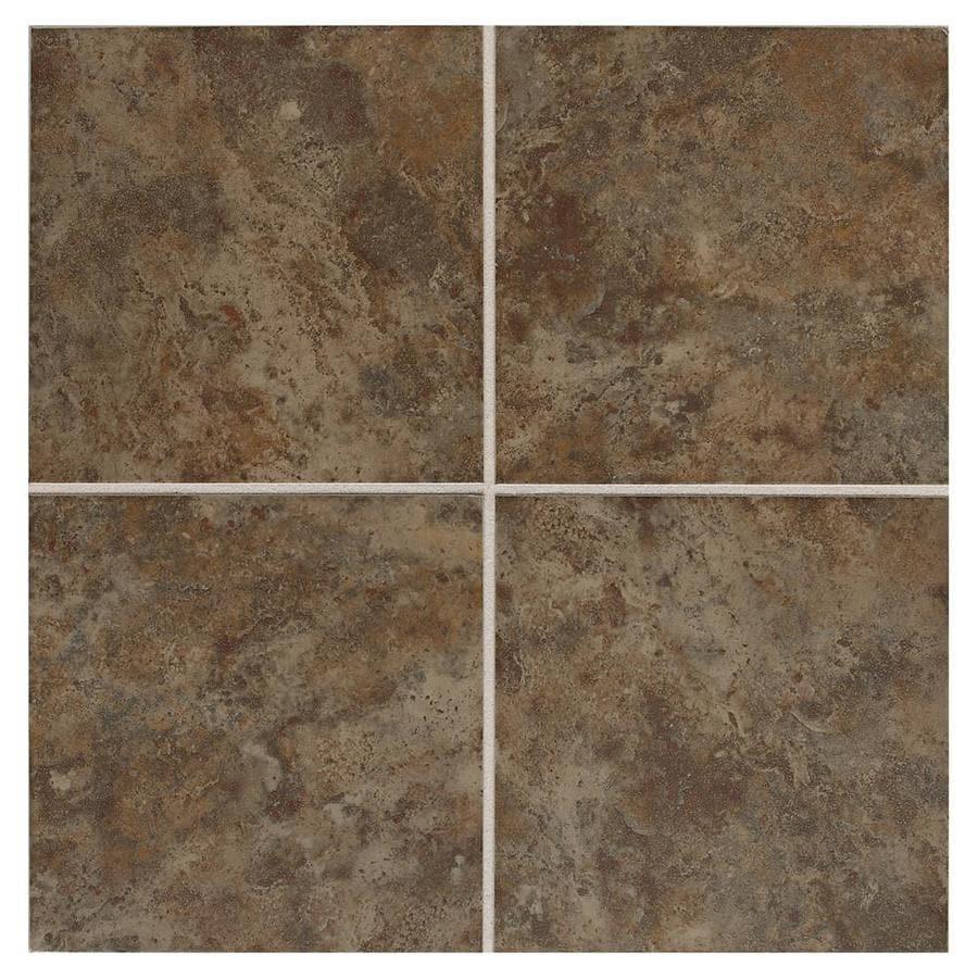 American Olean Belmar 8-Pack Olive Ceramic Floor and Wall Tile (Common: 18-in x 18-in; Actual: 17.75-in x 17.75-in)