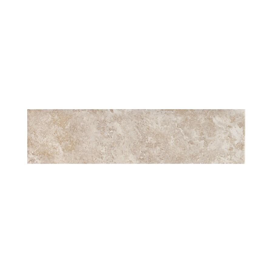 American Olean Belmar Pearl Ceramic Bullnose Tile (Common: 3-in x 12-in; Actual: 3-in x 12-in)