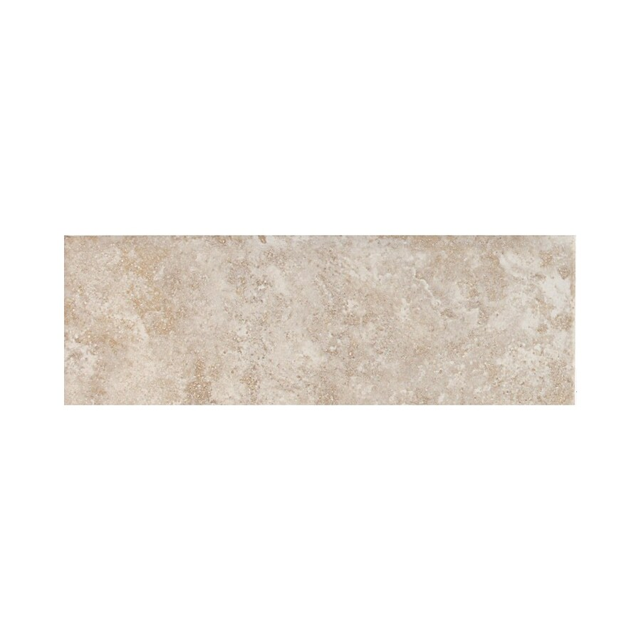 American Olean Belmar Pearl Ceramic Bullnose Tile (Common: 2-in x 6-in; Actual: 2-in x 6-in)