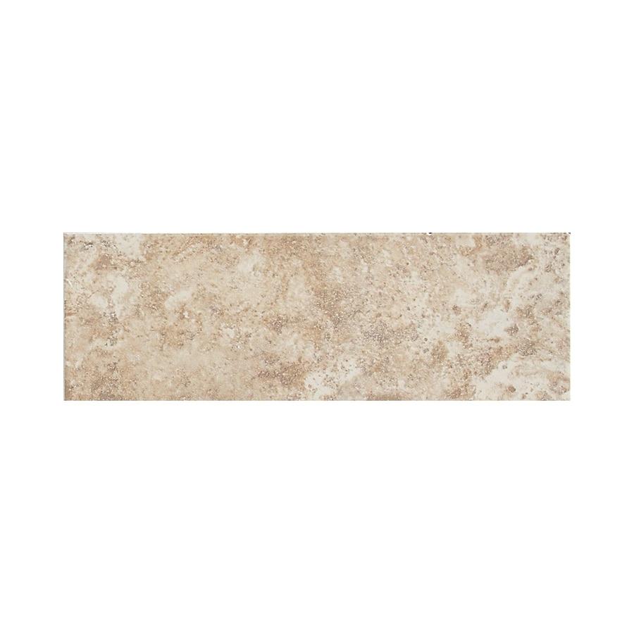 American Olean Belmar Cashmere Ceramic Bullnose Tile (Common: 3-in x 9-in; Actual: 3-in x 9-in)