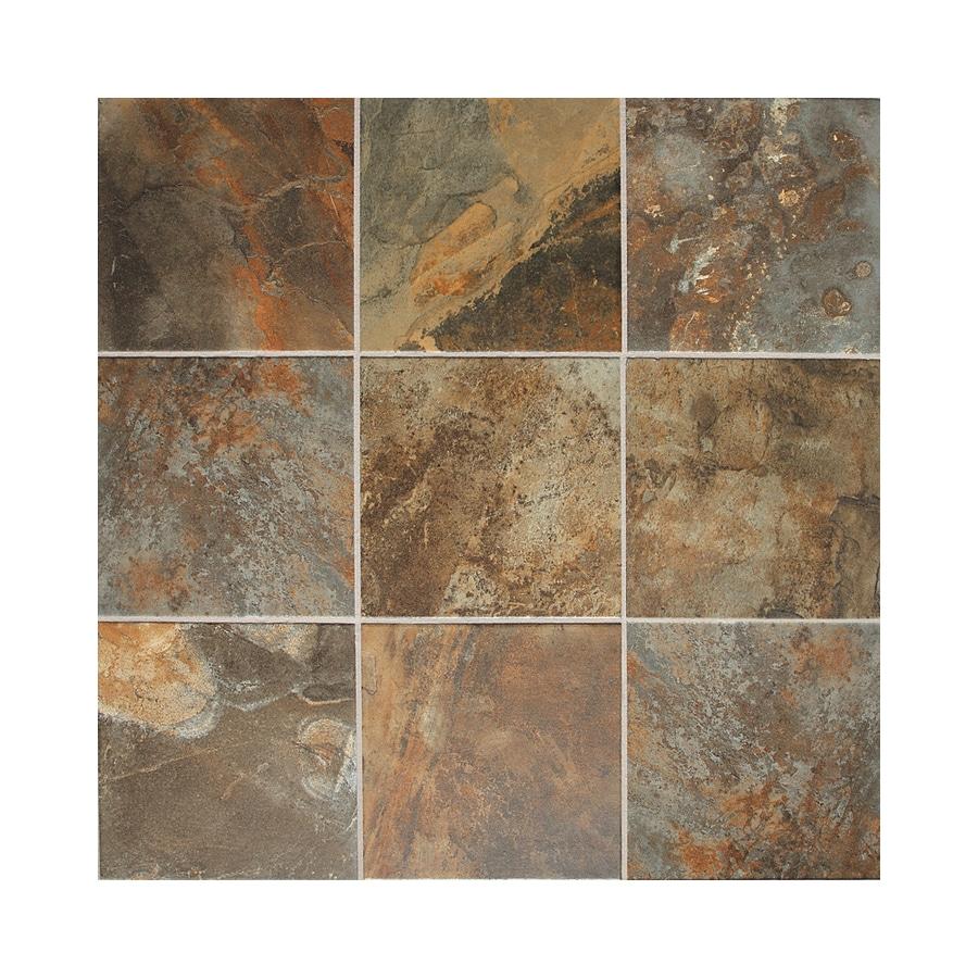 American Olean Kendal Slate 15-Pack Carlisle Black Porcelain Floor and Wall Tile (Common: 12-in x 12-in; Actual: 11.81-in x 11.81-in)