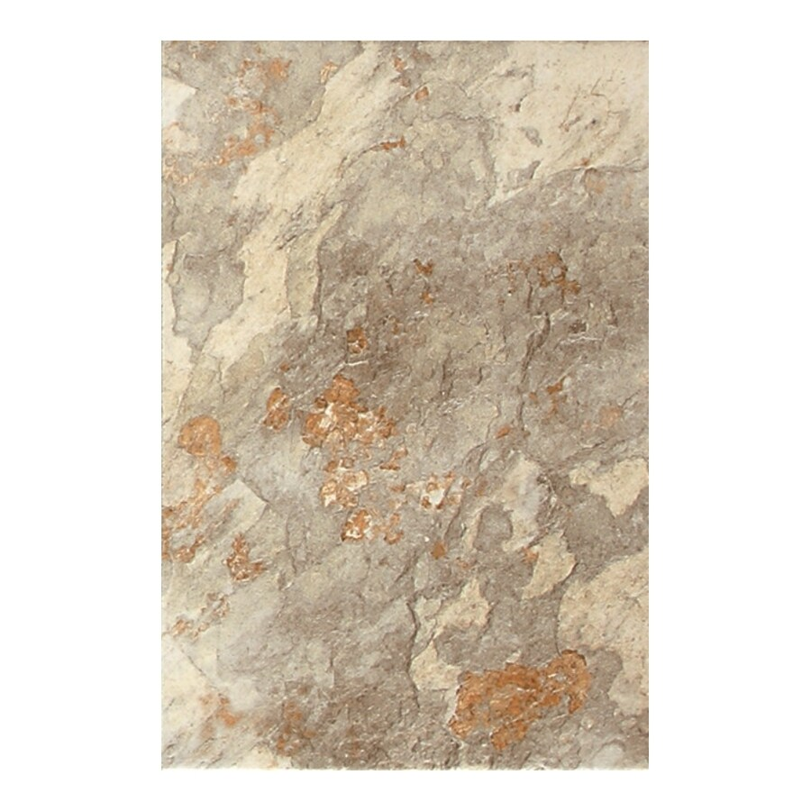 American Olean 9-Pack Kendal Slate Easdale Neutral Glazed Porcelain Floor Tile (Common: 12-in x 18-in; Actual: 11.81-in x 17.75-in)
